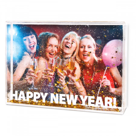 """Happy New Year 6""""x4"""" Glitter Frame with Print"""