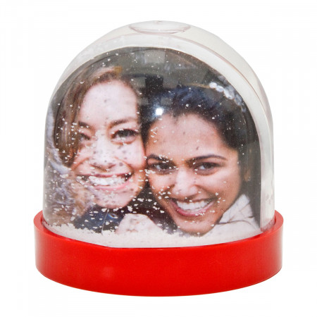 Red Small Snow Dome with Print