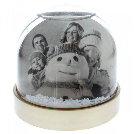 Silver Small Snow Dome with Print