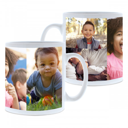 4 Image Photo Collage Mug
