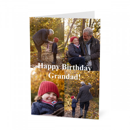 Birthday Photo Card with a 4 Image Collage (A5)