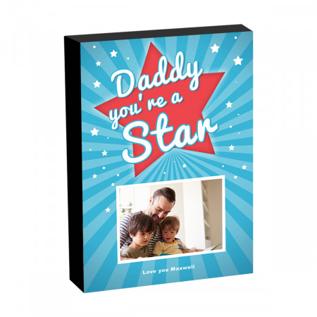 """8"""" x 6"""" You're a Star Photo Block"""
