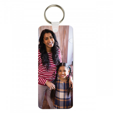 Rectangular Plastic Photo Keyring