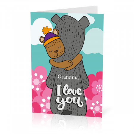 Bears Hugging Card