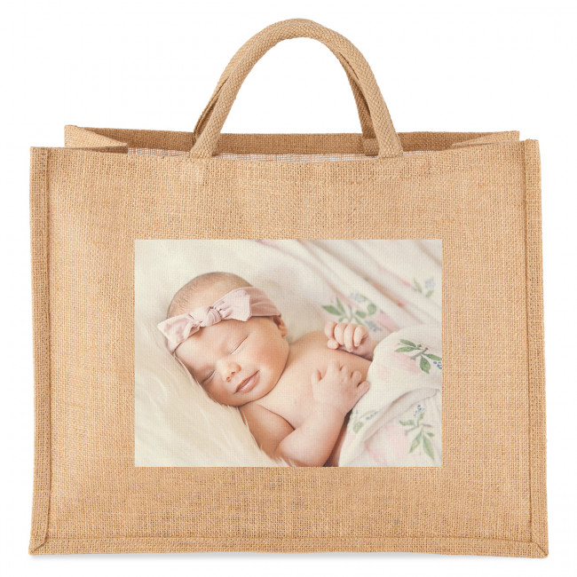 Personalised Photo Jute Bag Tesco Photo