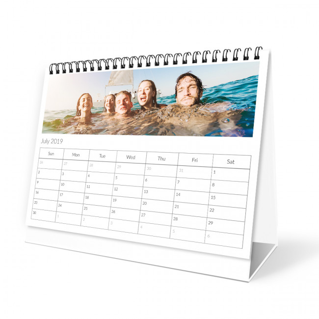 Desk Calendar | Grid Desk Calendar - Tesco Photo