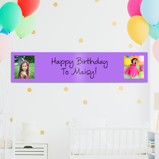 Personalised Photo Custom Banners - Tesco Photo