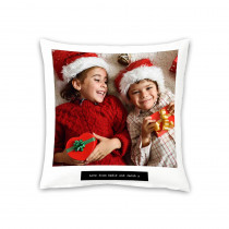 "18"" Image and Text Canvas Square Photo Cushion"