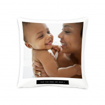 """18"""" Image and Text Canvas Square Photo Cushion"""