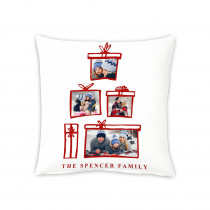 "18"" Christmas Present Canvas Square Photo Cushion"