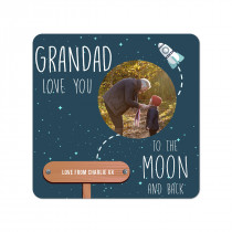 Grandad Moon Coaster
