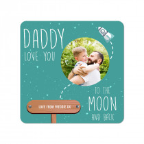 Dad Moon Coaster