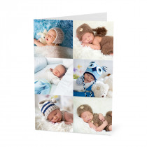 Birthday Photo Card with a 6 Image Collage (A5)