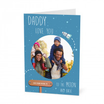 Personalised cards unique photo cards tesco photo daddy moon card m4hsunfo
