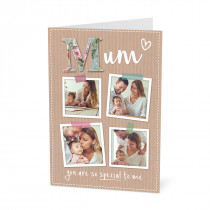 A5 Mum Scrapbook Photos Card