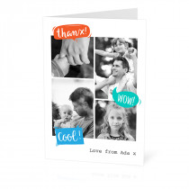 Personalised greeting cards photocards tesco photo speech bubbles card m4hsunfo
