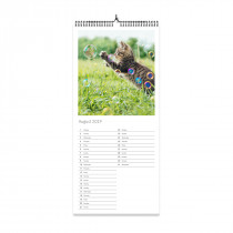 Slim List Photo Calendar