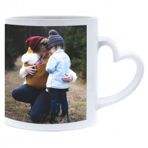Single Image Heart Handle Mug