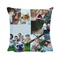Auto Fill Collage Suede Cushion