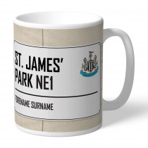 Newcastle United FC Street Sign Mug