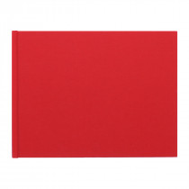 Blank - Create Your Own Medium Landscape Photo book with Red Linen Cover