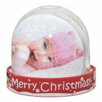 Merry Christmas 3D Snow Dome with Print