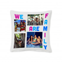 """18"""" We Are Family Square Photo Cushion"""