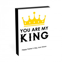"""8"""" x 6"""" You Are My King Photo block"""