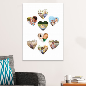 "20x30"" Heart Collage Canvas"