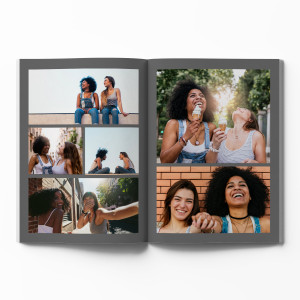 Hardcover Photo Book with Grey Theme